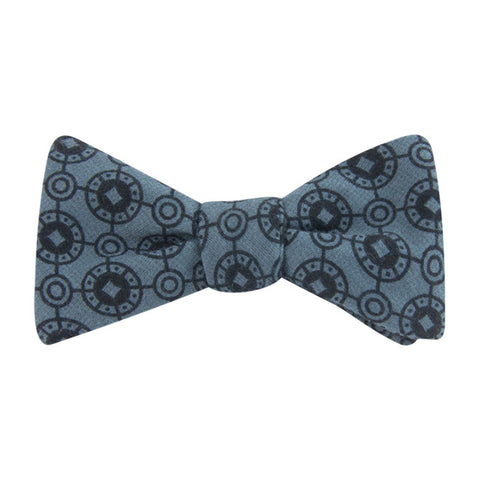 Steel Coinage Self Tie Bow Tie