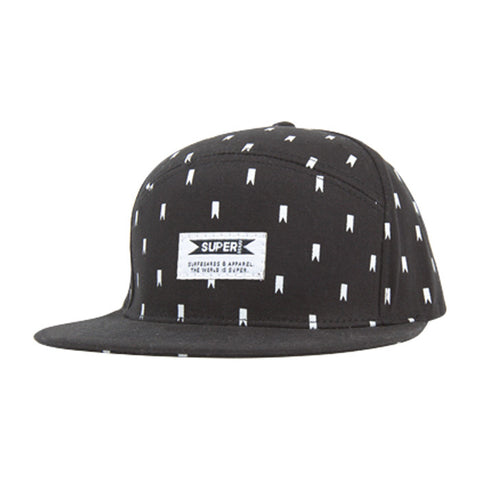Tagged Hat in Black