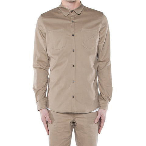 Bens On Button Down in New Khaki