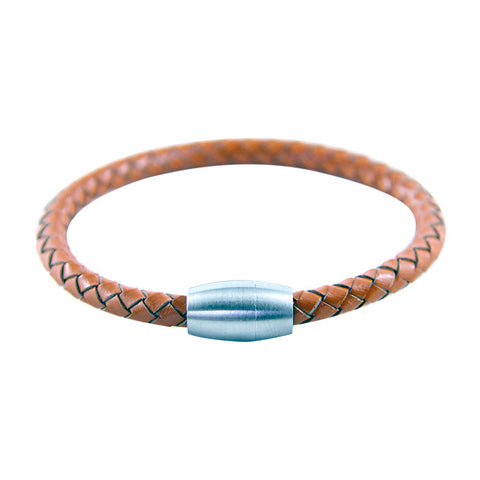 Bullet Leather Bracelet in Orange
