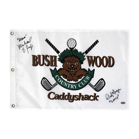 Caddy Shack Golf Pin Flag with Cindy Morgan, Michael Okeefe Dual Signature