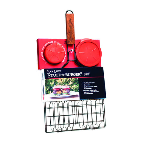 Stuff-A-Burger® 2PC Set / Basket & Press