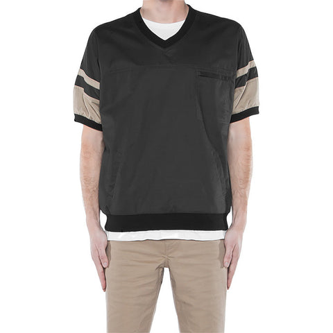 Cardin Over Shirt in Black & Khaki