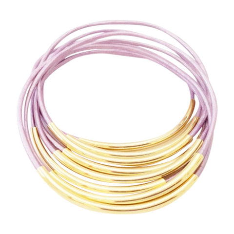 Chandni Gold Leather Wrap Bracelet