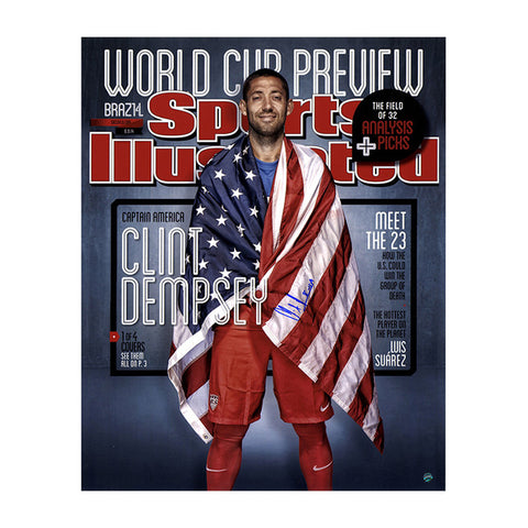 Clint Dempsey Signed USA Soccer Sports Illustrated 16x20 Photo