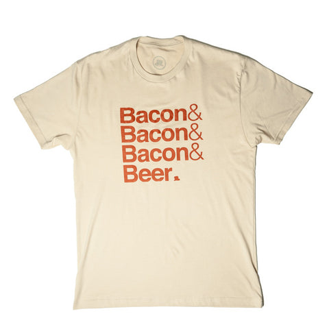 Bacon & Beer T-Shirt in Tan/Burnt Orange