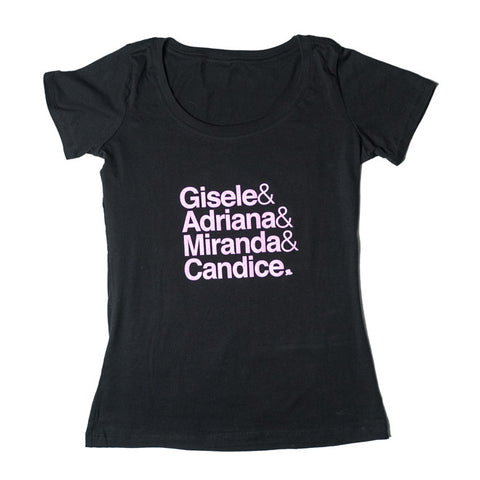 Victoria's Secret Models T-Shirt in Black/Pink
