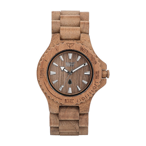 Date Watch in Teak