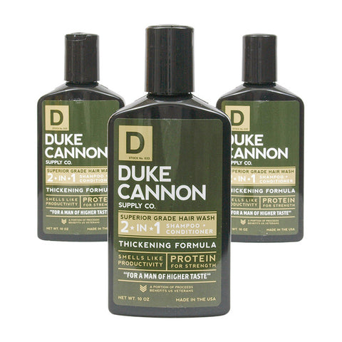 Duke Cannon 2-In-1 Hair Wash - Tea Tree, Thickening Formula