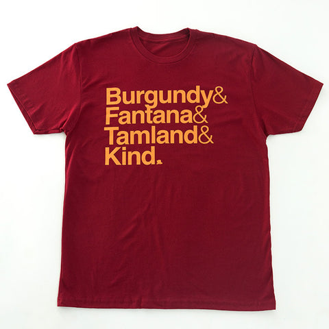 Anchorman T-Shirt in Burgundy