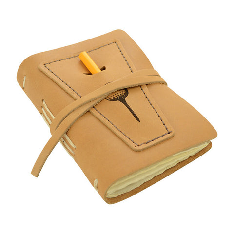 Golf Log With Pocket, Buckskin