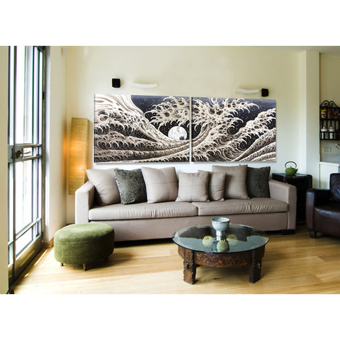 Great Wave (Diptych) by Mike Rubendall