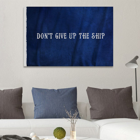 Hatcher & Ethan 'Don't Give Up The Ship' Canvas Art
