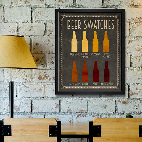 Hatcher & Ethan 'Beer Swatches' Framed Art