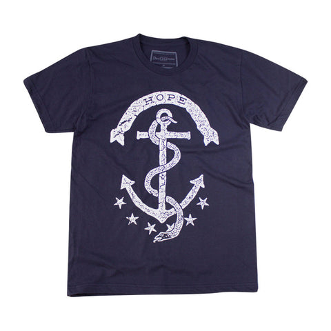 Hope Crew Tee in Navy