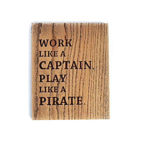 Captain Pirate Wood Sign