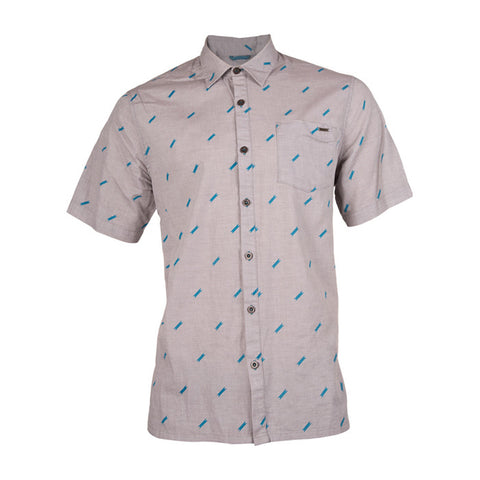 Johnny S/S Woven Shirt in Platinum