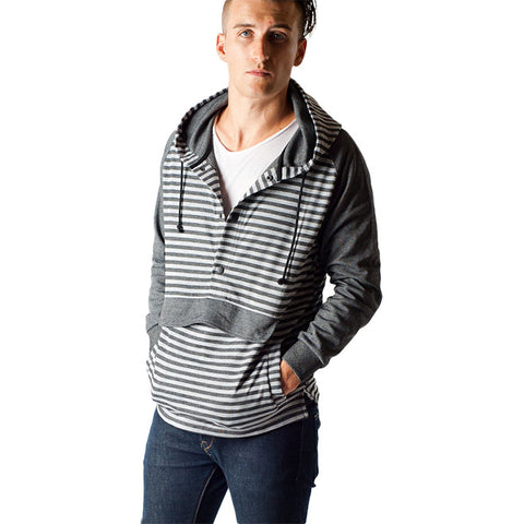 Kayle Sweatshirt in Black Stripe