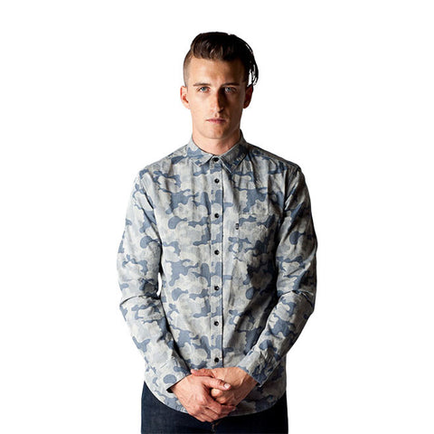 Lex Shirt in Sea Blue Camouflage
