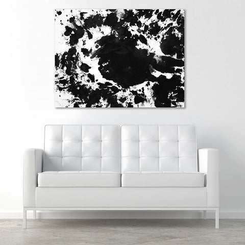 Love Is Art Canvas & Paint Set in Classic Black