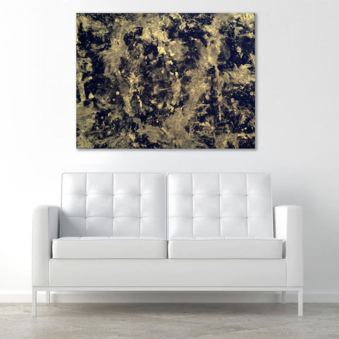 Love Is Art Canvas & Paint Set in Black & Gold