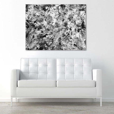 Love Is Art Canvas & Paint Set in Shades of Grey