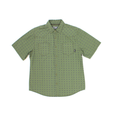 Lanai S/S Woven in Moss