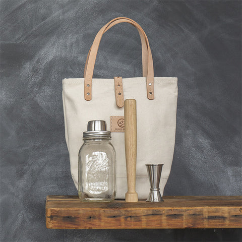 The Cocktail Tote Set in White