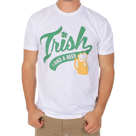 Irish I Had A Beer Tee in White