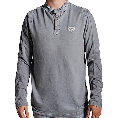 Moto Henley in Grey