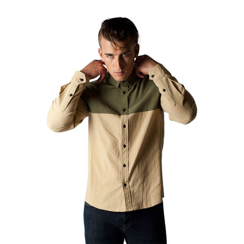 Nasus Shirt in Olive Cream