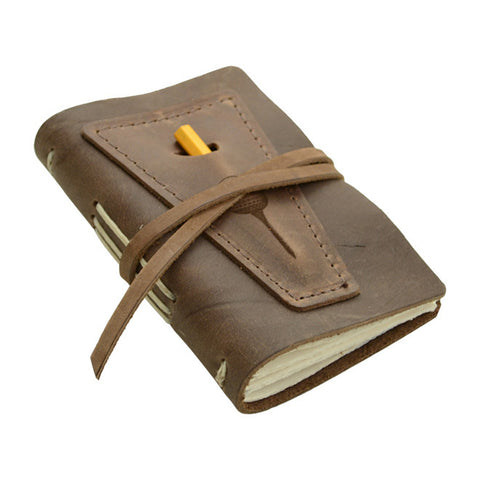 Golf Log With Pocket, Dk Brown