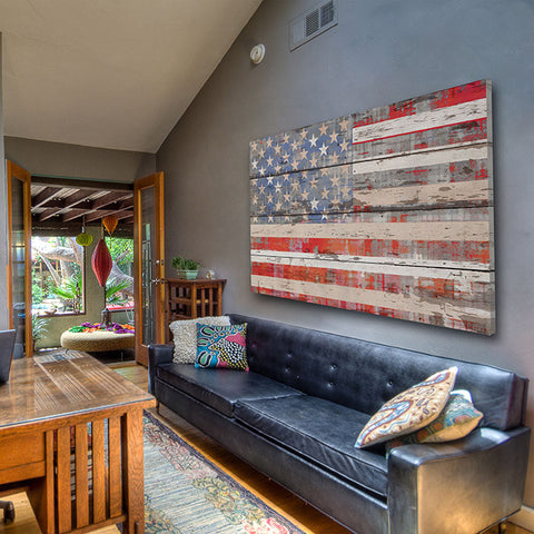 American Dream on Reclaimed Wood