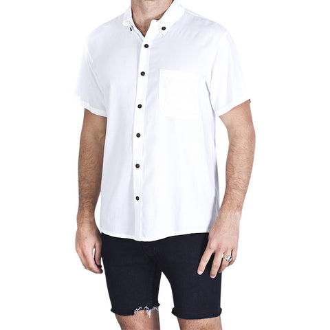 Plain S/S Shirt in White