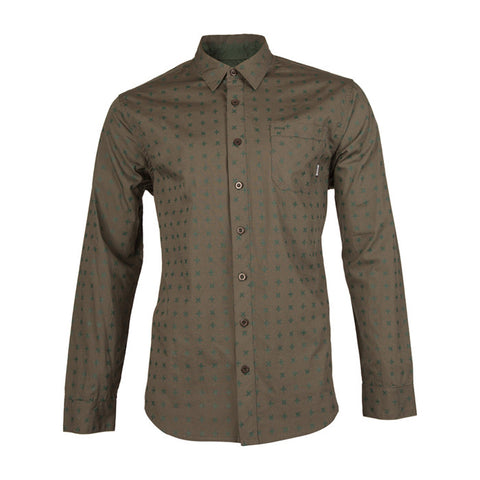 Porch L/S Woven Shirt in Pine