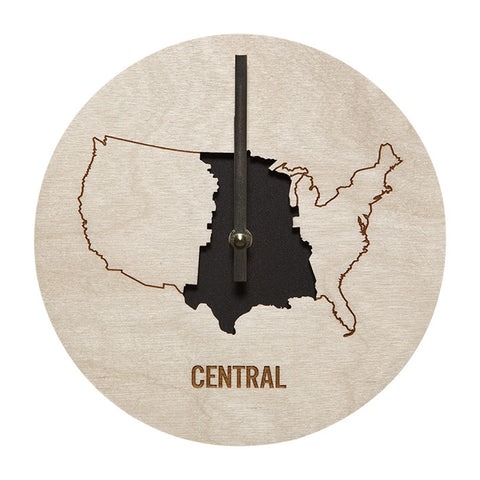 Central Time Zone Wall Clock