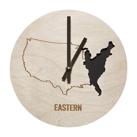 Eastern Time Zone Wall Clock