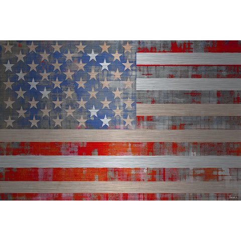 American Dream - Art Print on Brushed Aluminum