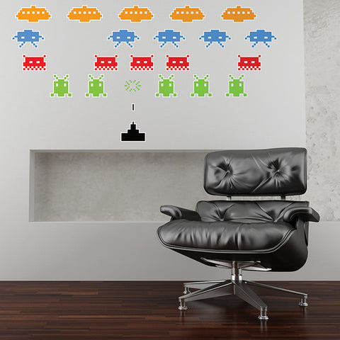Space Invaders Wall Stickers
