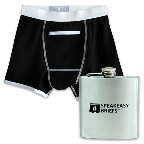 Speakeasy Briefs and Flask in Black
