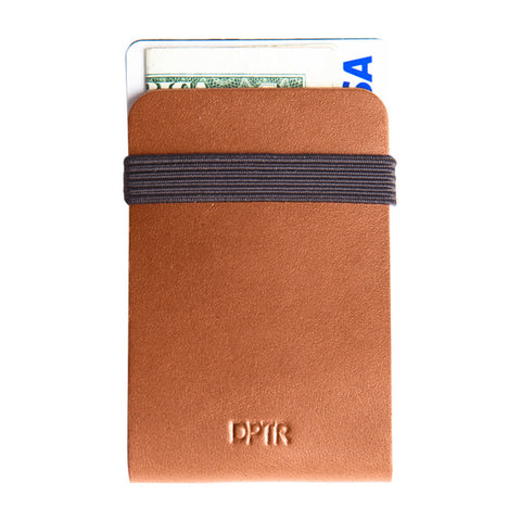 Clamshell Wallet in Brown