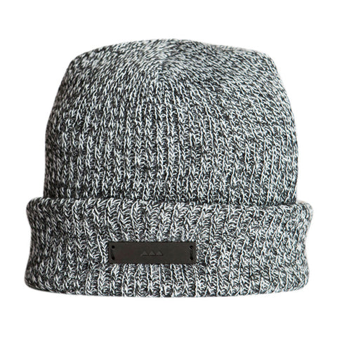 Gilded Cuf Beanie in Charcoal Grey