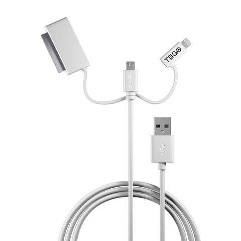 Trio Cable in White