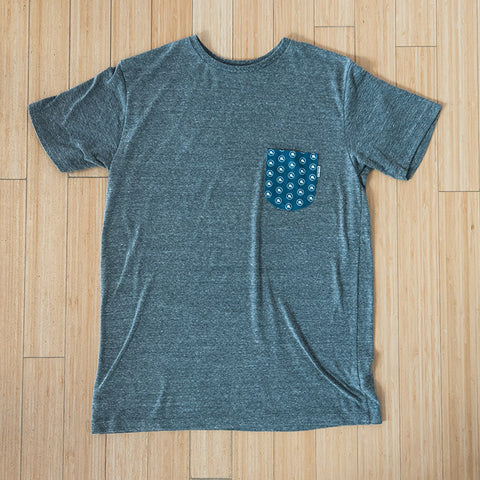 Top Hat Pocket Tee in Heather Gray