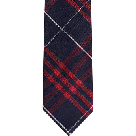 The Roosevelt Slim Tie in Blue Red Plaid