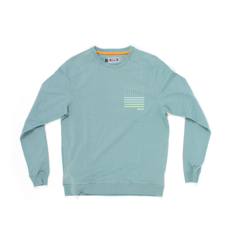 Trademark Crew Fleece in Sterling Blue