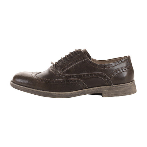 Vinci Leather Wingtip Oxford in Mouse