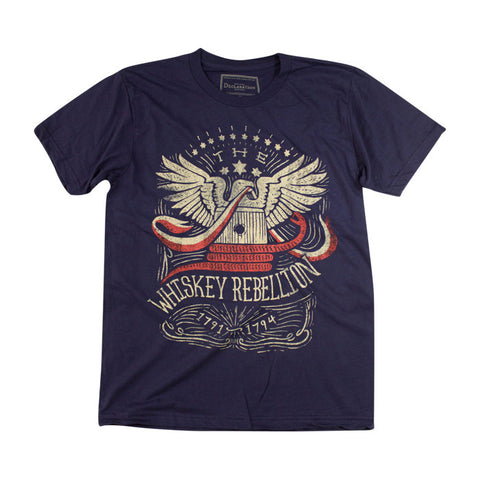Whiskey Rebellion Tee in Navy