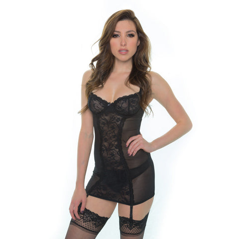 Sinfully Yours Demi Chemise in Obsidian