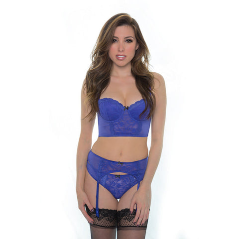 Sinfully Yours Garter Belt in Concord Purple